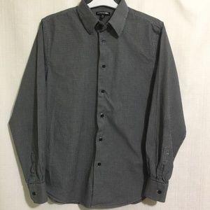 Express Modern Fit Shirt M Black White